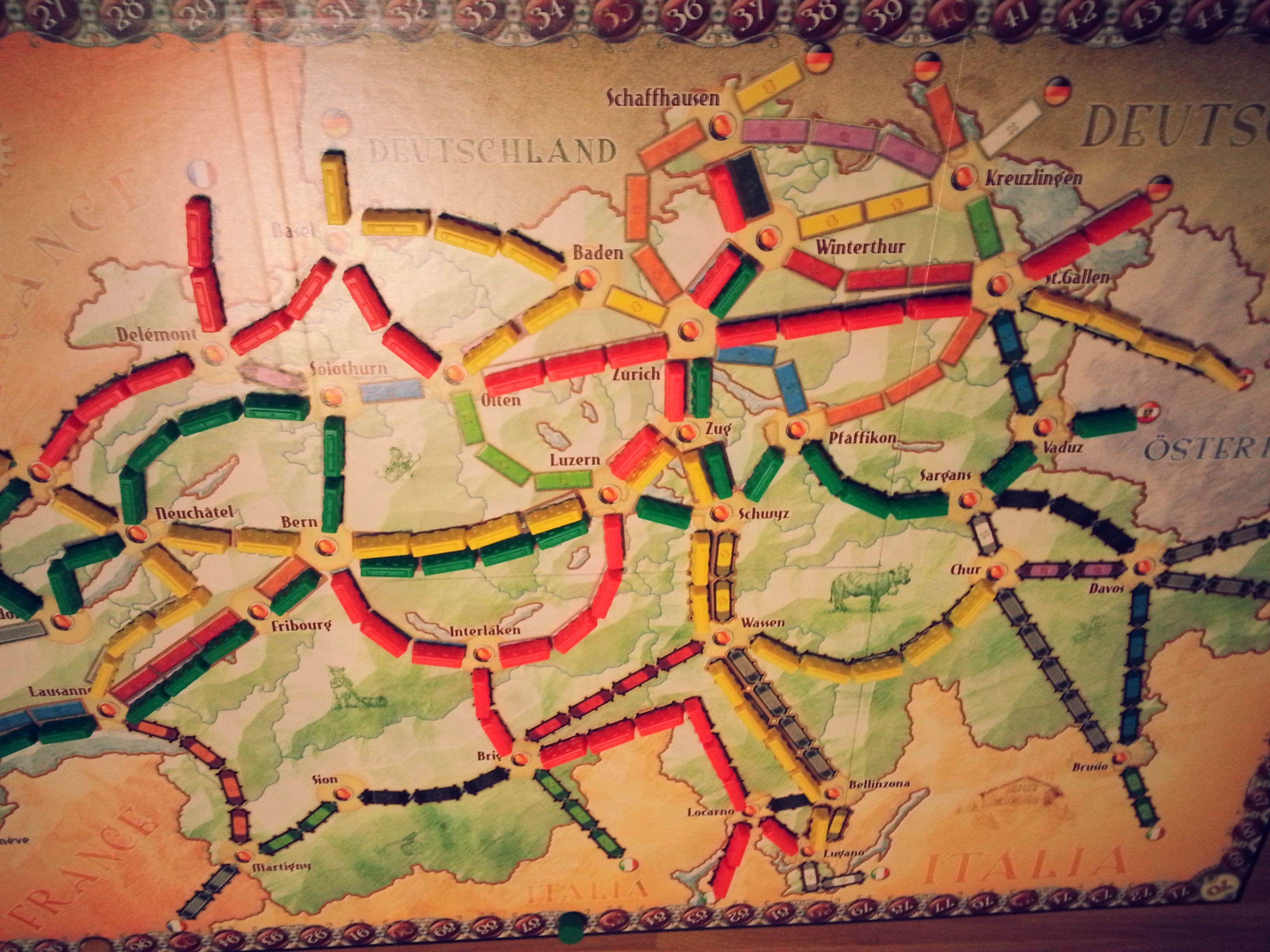 Day 1 board games and good people also ticket to ride