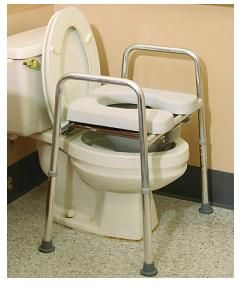 Eagle Health 34654 Padded Raised Toilet Seat Commode - American ...