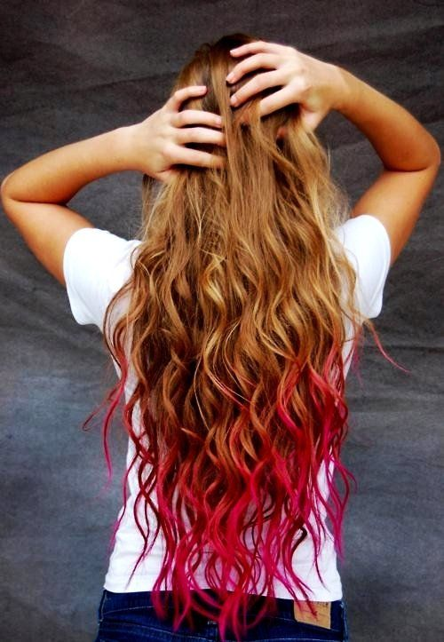 Pin By Faith Mooney On Beauty Me Up Hair Styles Dip Dye Hair Temporary Hair Color