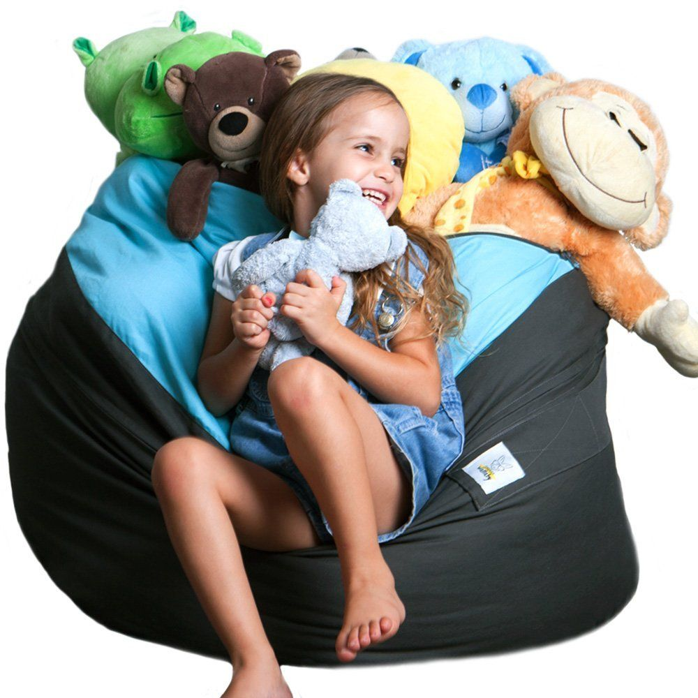 Amazon Com Xxl Expandable Child S Stuffed Animal Storage Bean Bag