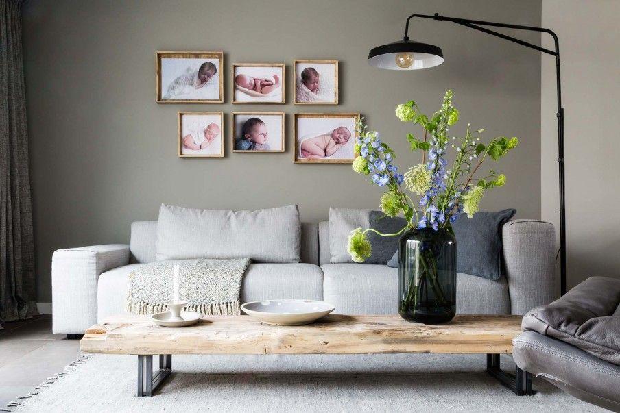 Groene Wand Woonkamer : Oriana en rené kregen een make over van de woonkamer met groene muur