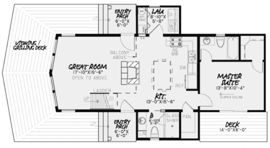 Plano de casa tipo loft con más de 100 m2 | Casas | Pinterest