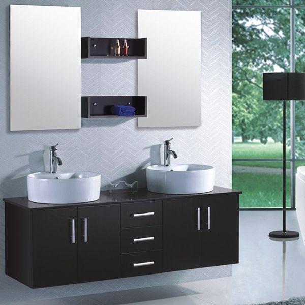 Meuble de salle de bain -  - meuble salle de bain marron