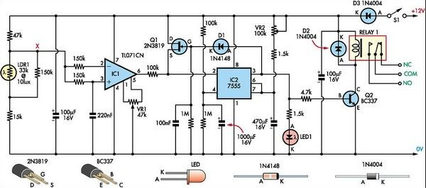Super Light Sensor Circuit Diagram | Electronic Circuits | Pinterest ...