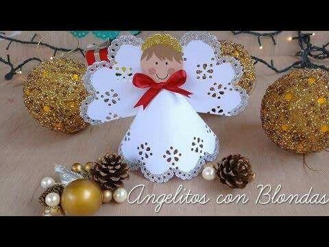 Hermosos angelitos con blondas (comunión o bautismo)