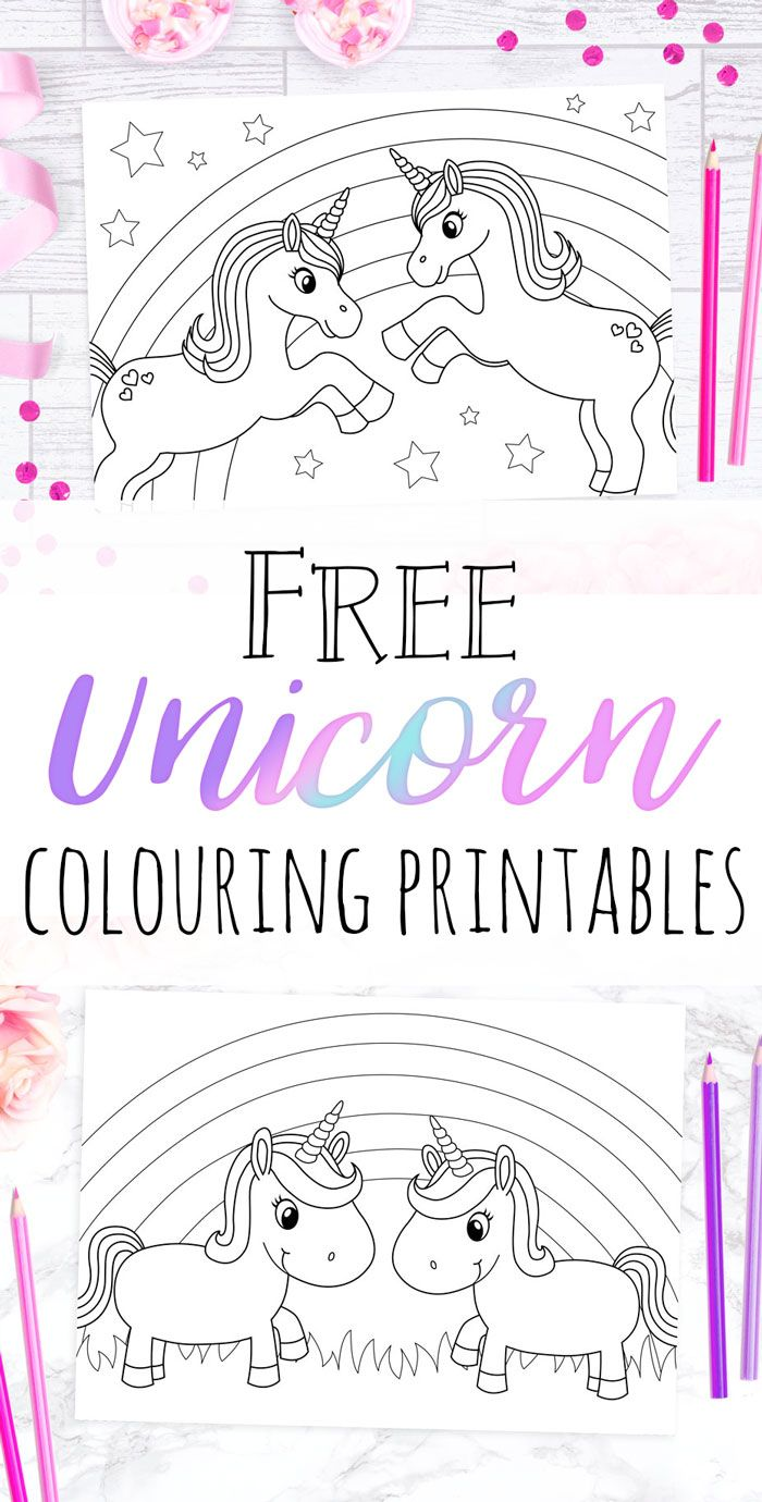 Aug 2 FREE Unicorn Colouring Sheets Cute stuff for my