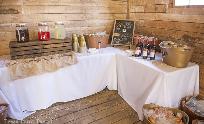 A Breathtaking Rustic Barn Wedding (on the cheap) – Press Print Party!