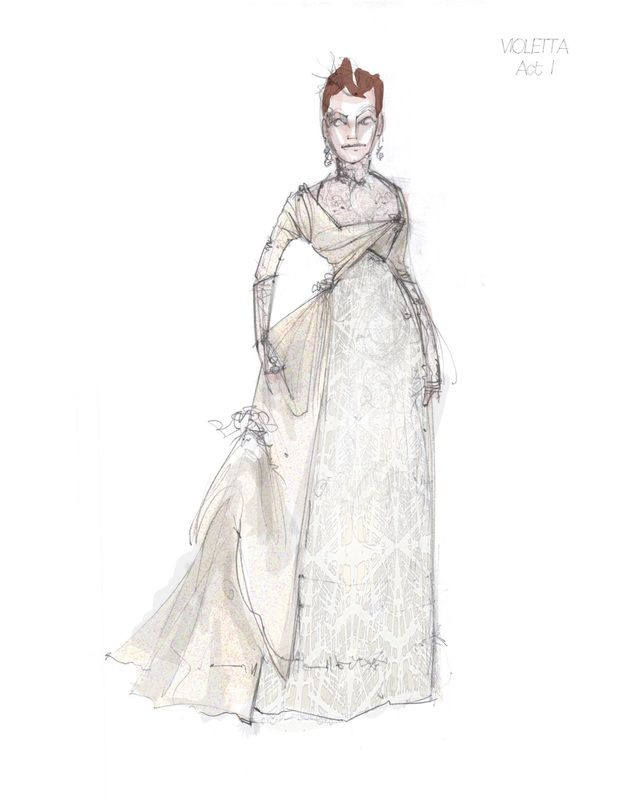 La Traviata (Violetta). Boston Lyric Opera. Costume design by ...