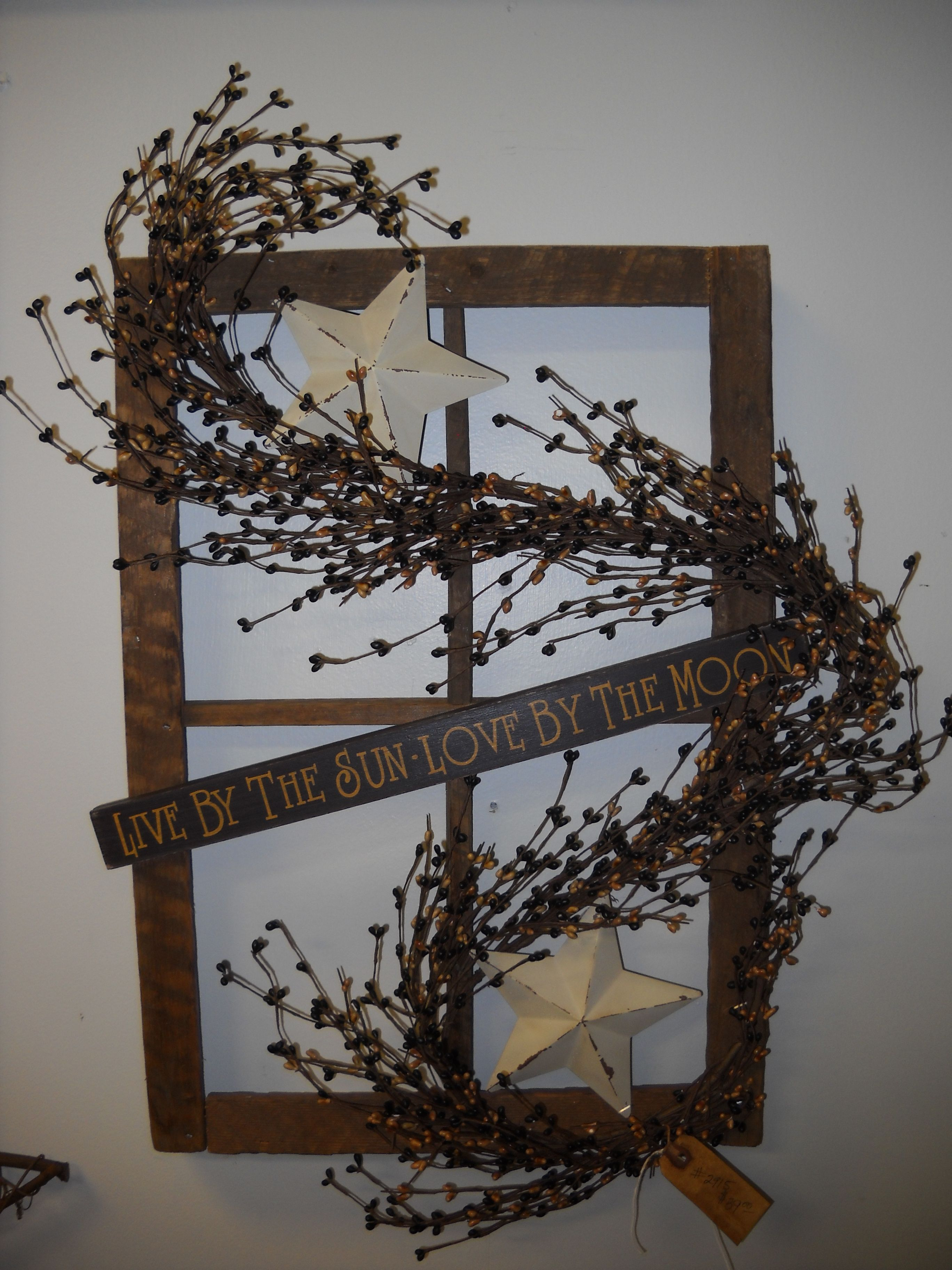 31 Ways to Use Old Windows and Frames ...   Window crafts ...  Primitive Window Frame Decor