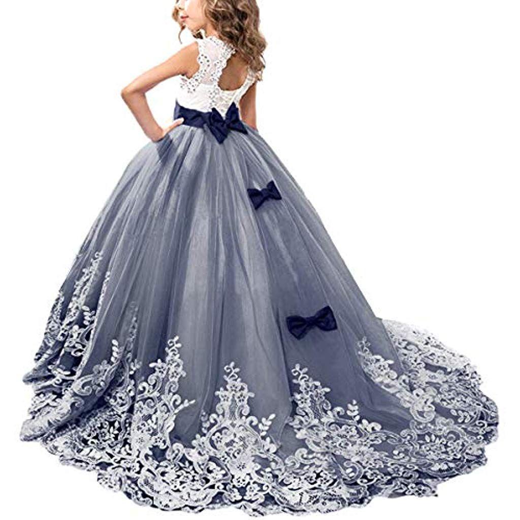 Kinder Mädchen Prinzessin Tüll Kleid Hochzeit Partykleid Festlichkleid Ballkleid