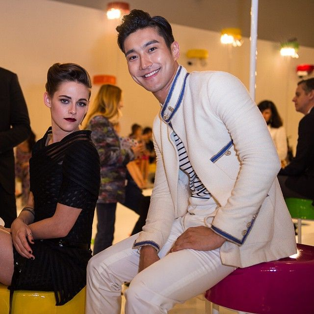 Kristen Stewart & Siwon Choi at Chanel Cruise Collection in Seoul