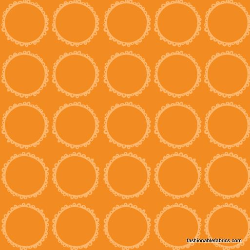 $8.95 Fabric... Blooming Lovely Circles in Orange by Anthology Fabrics
