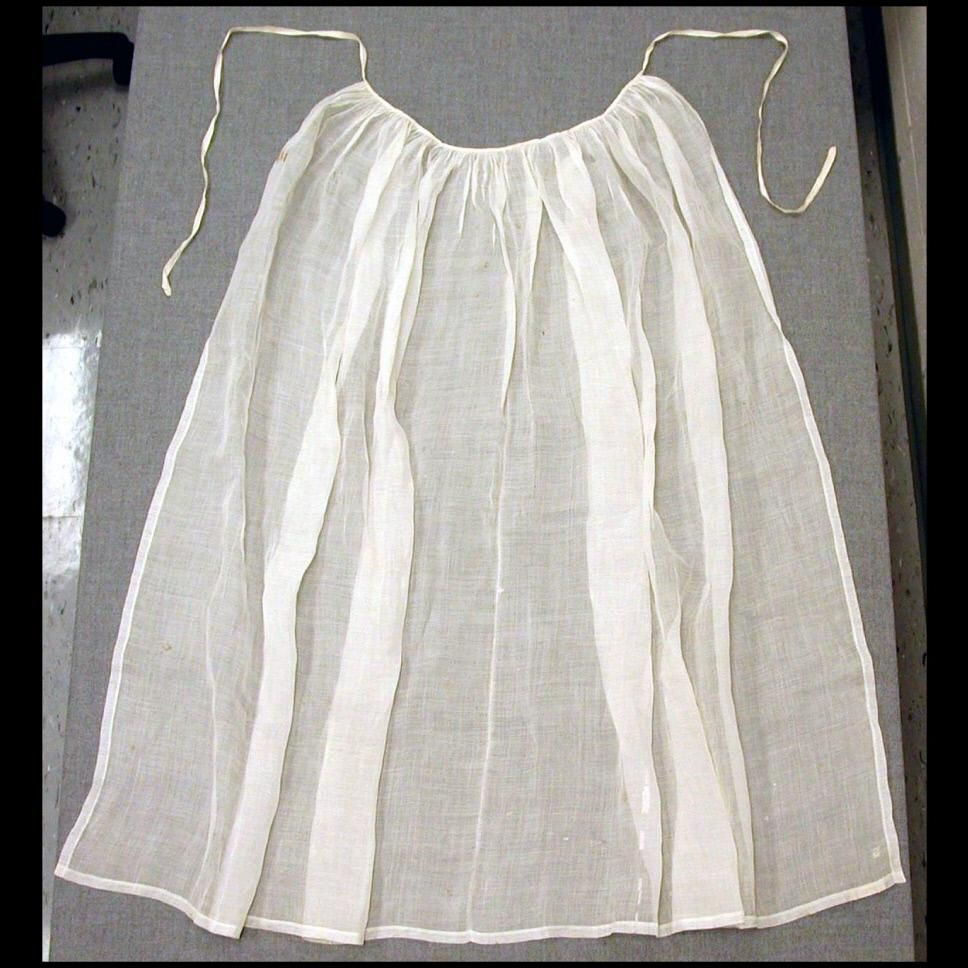 White linen apron - Woman S Semi Sheer White Linen Apron From Colonial Williamsburg S Online Collection