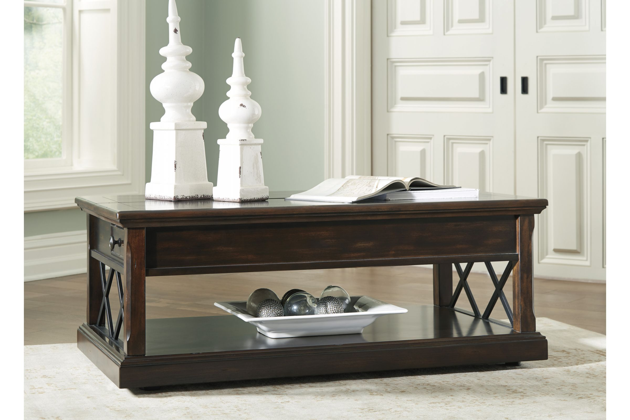 Roddinton Lift Top Cocktail Table By Ashley In 2020 Coffee Table