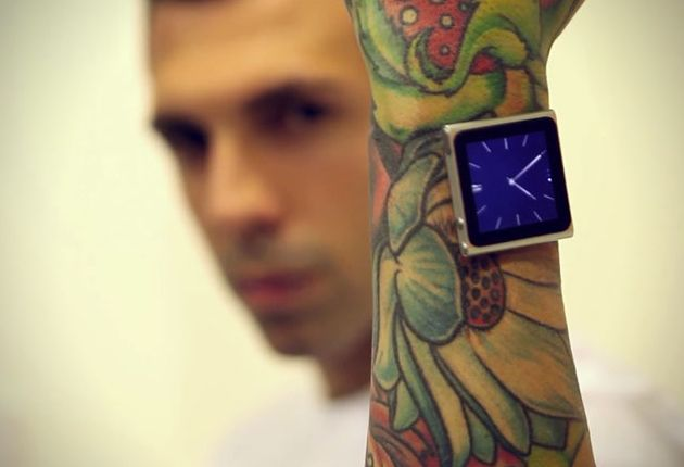 iDermal - because he's too cool for watch bands