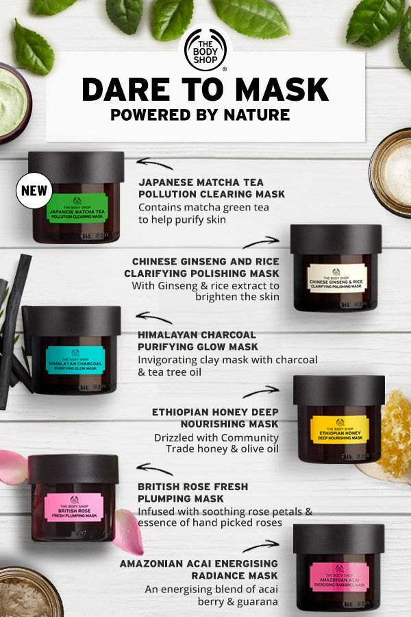 to mask. We've packed ingredients from all around the world into our Expert Facial Mask range – six nature-inspired masks with something for every skin type. Try our powerful new Japanese Matcha Tea Pollution Clearing Mask, with a 100% vegan formula that leaves skin feeling clean and purified. Shop now to find your perfect match!