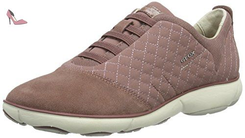 Geox Aneko B ABX A, Sneakers Basses Femme, Rose (Taupe), 39 EU