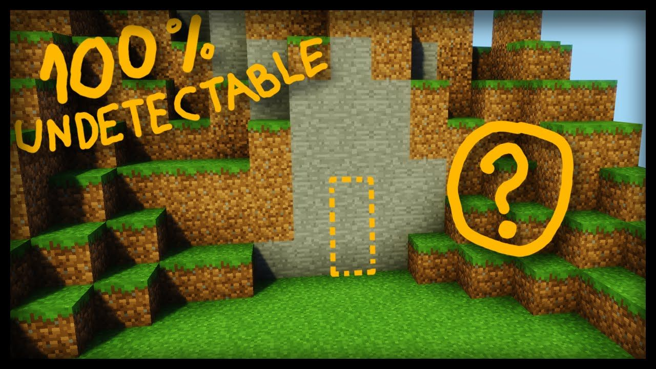 The SECRET 100 undetectable Minecraft Door! (secret