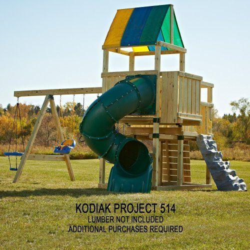 Backyard Discovery Saratoga All Cedar Wood Playset Swing