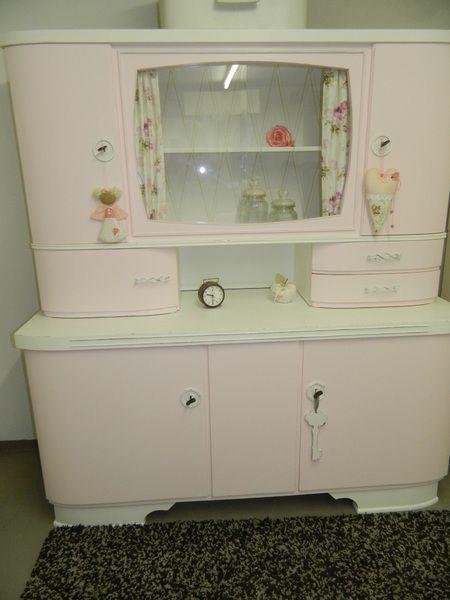 k chenbuffet mit vitrine oma s k chenschrank s von engel atelier auf alte m bel. Black Bedroom Furniture Sets. Home Design Ideas