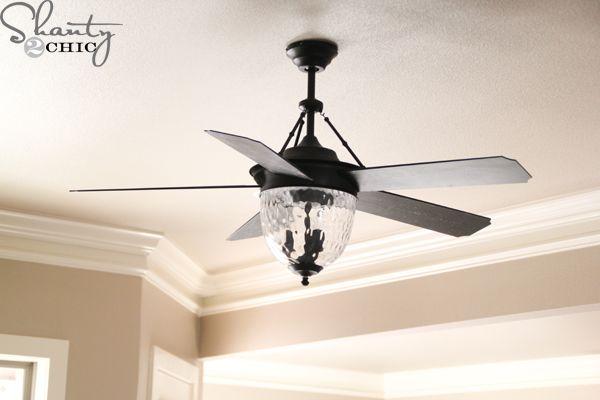 Super cute interior lights house update ceiling fan - Interior ceiling fans with lights ...