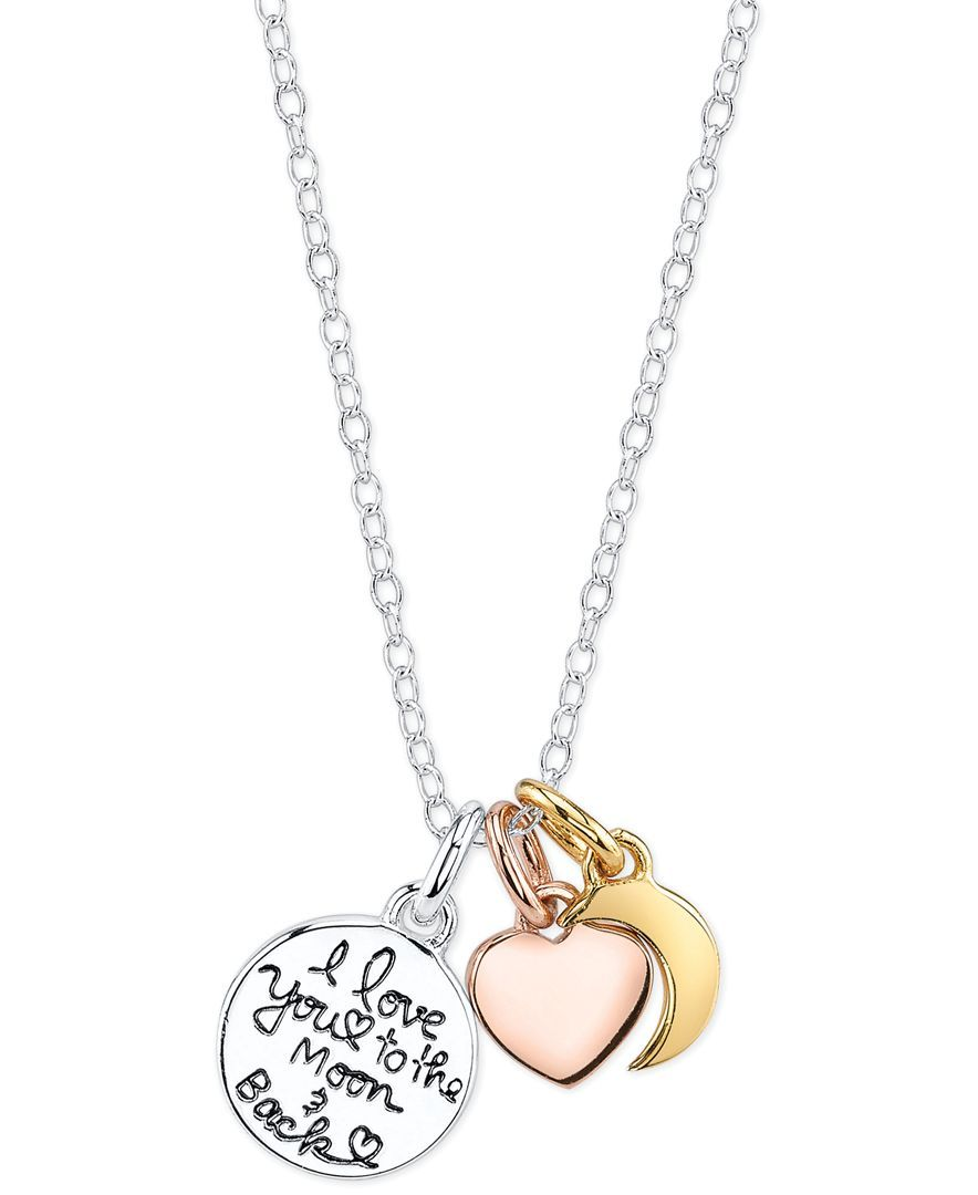Unwritten i love you to the moon and back charm pendant necklace in i love you to the moon and back charm pendant necklace in sterling silver aloadofball Choice Image