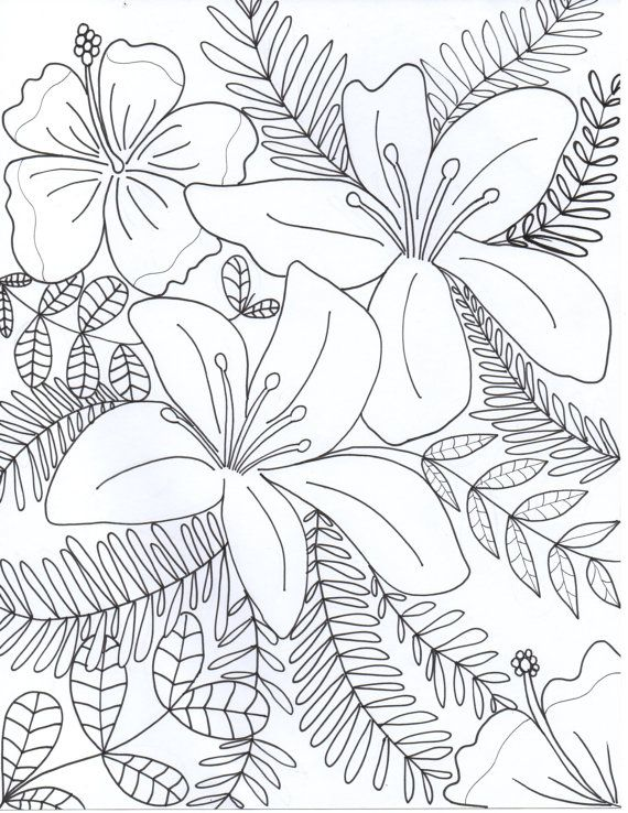 Flowers Coloring Page by FunnyJune22 | Coloring Pages | Pinterest ...