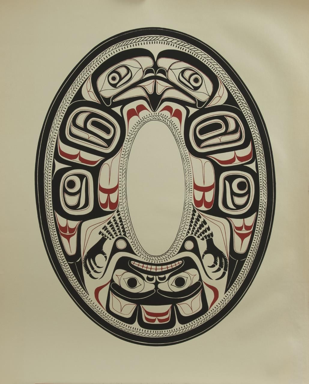 Haida Argillite Plate Eagle Charles Edenshaw