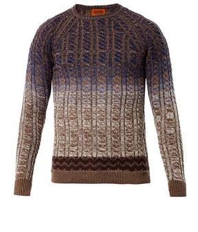 297ea2a7278ec Missoni-missoni degrade cable knit sweater