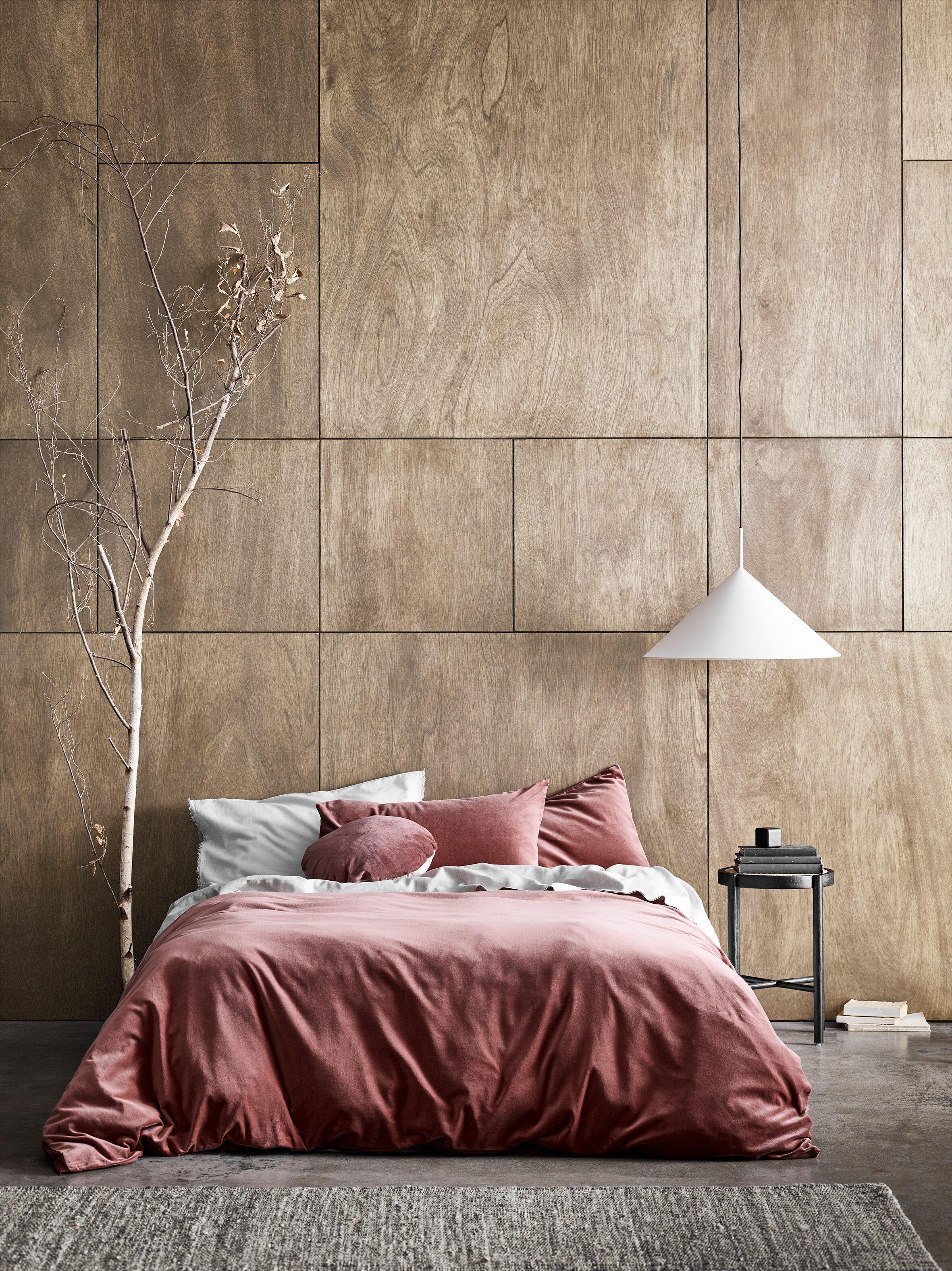 LUXURY VELVET QUILT COVER MAHOGANY in 2020 Bed linens