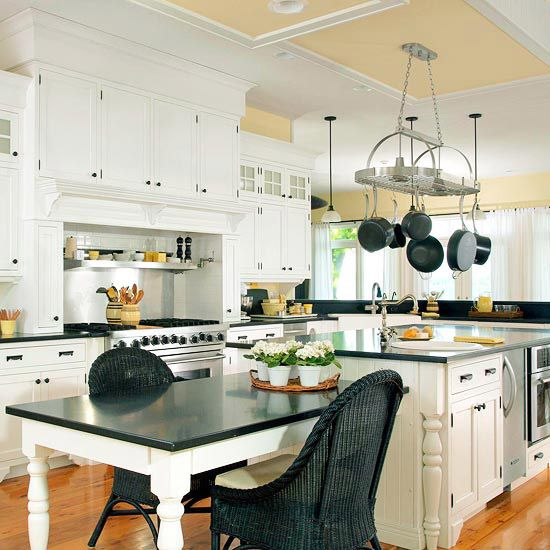 Kitchen Island Designs Black counters, Counter top and Kitchens