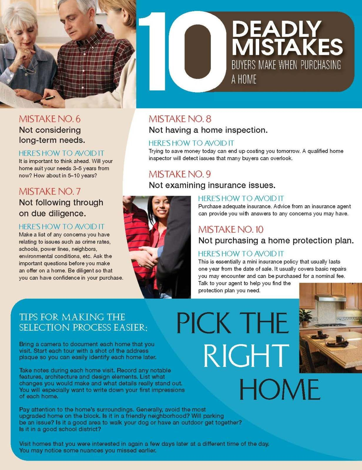 10 Mistakes Buyers Make When Purchasing A Home Michelle Florea
