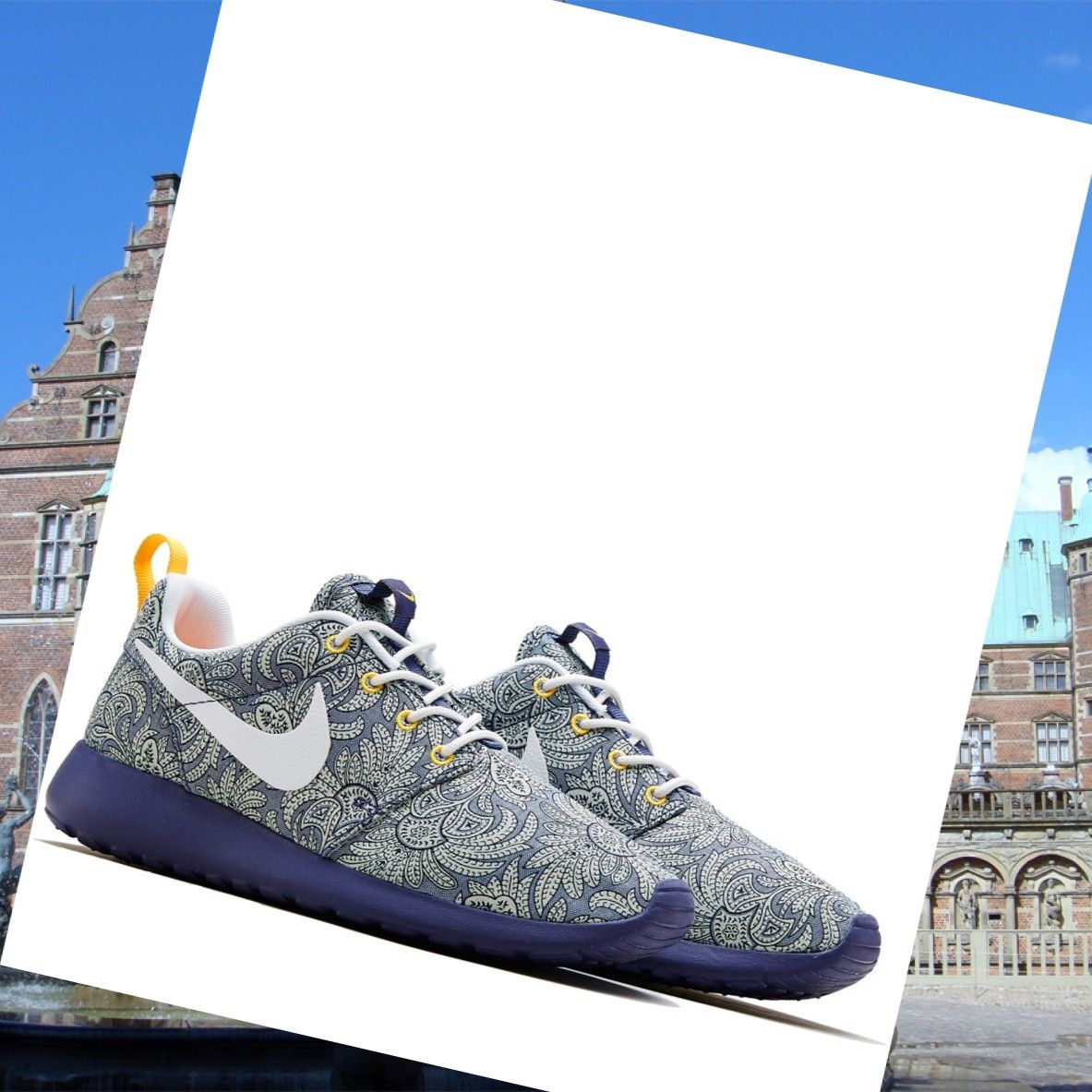 new concept 85270 6cb1d Nike Roshe Run x Liberty Of London Light Blue Anoosha Ladies HOT SALE! HOT  PRICE!