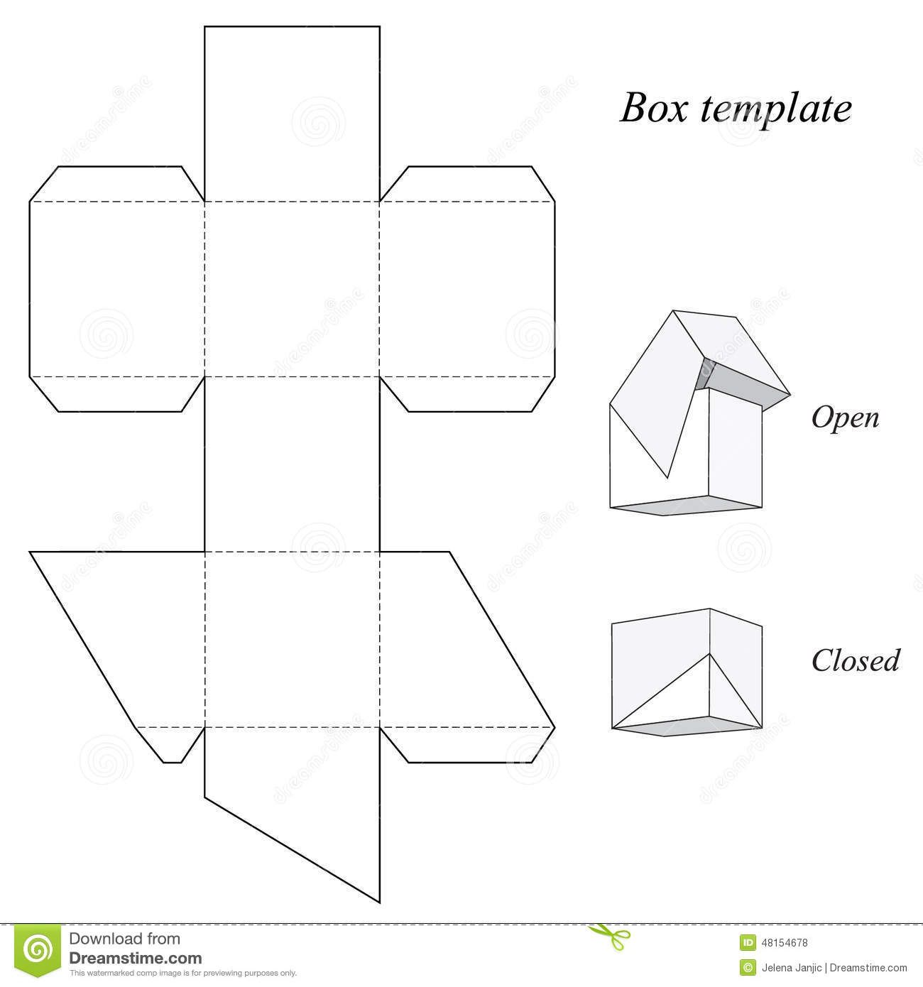 Square Box Template With Lid Download From Over 50 Million High