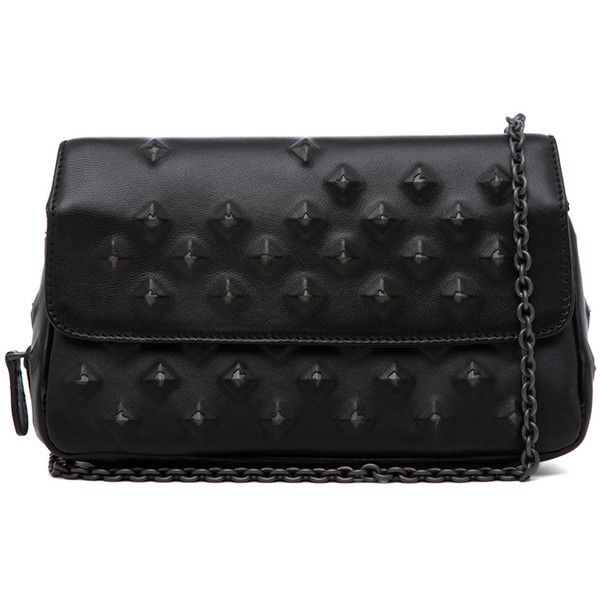 Bottega Veneta Nappa Stud Messenger Bag in Black - List price: $1860 Price: $930
