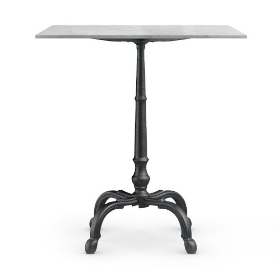 wide  tall La Coupole Bar Height Bistro Table With Marble