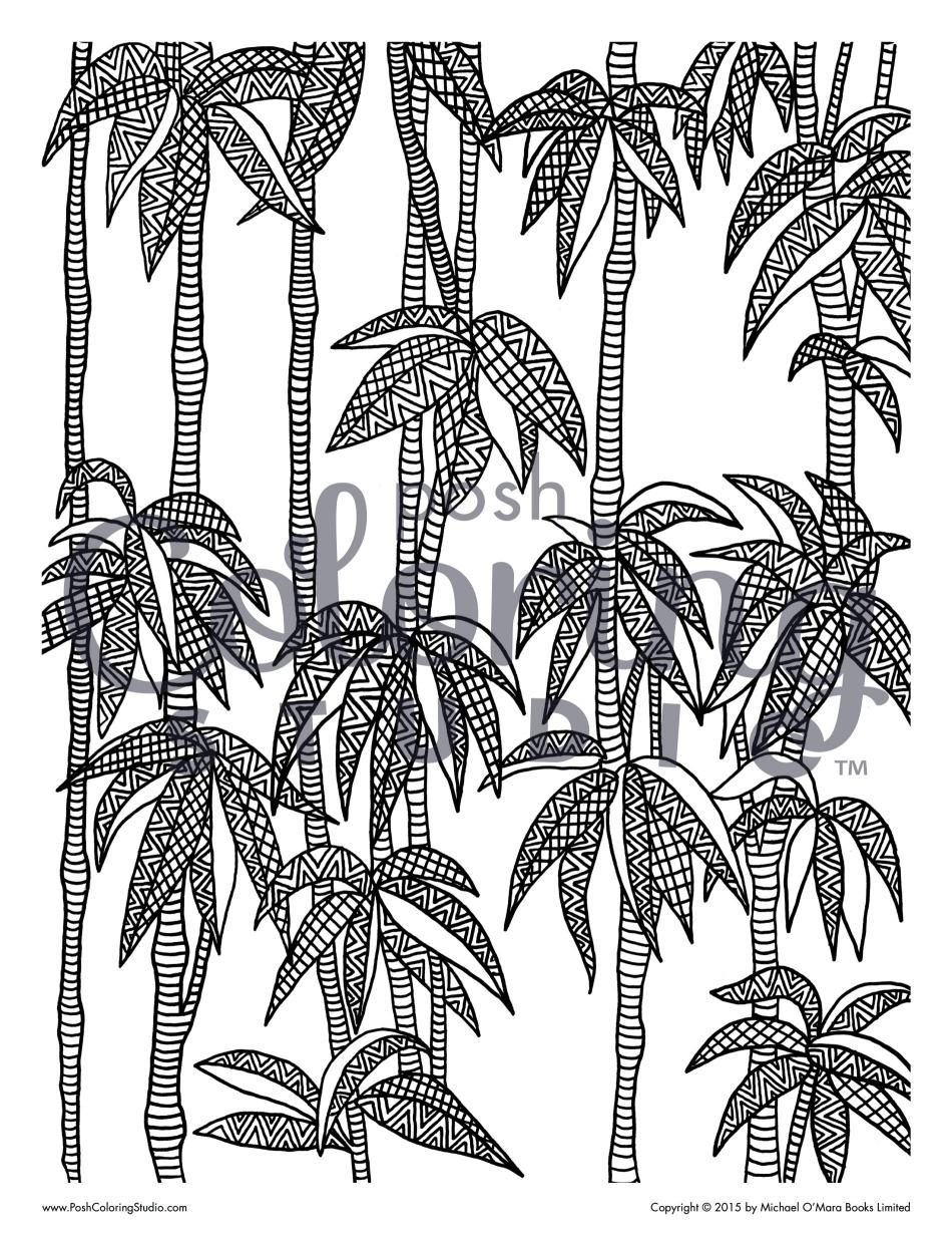 Bamboo Brush Coloring Page Posh Coloring Studio Bamboo Brush Coloring Pages Bamboo