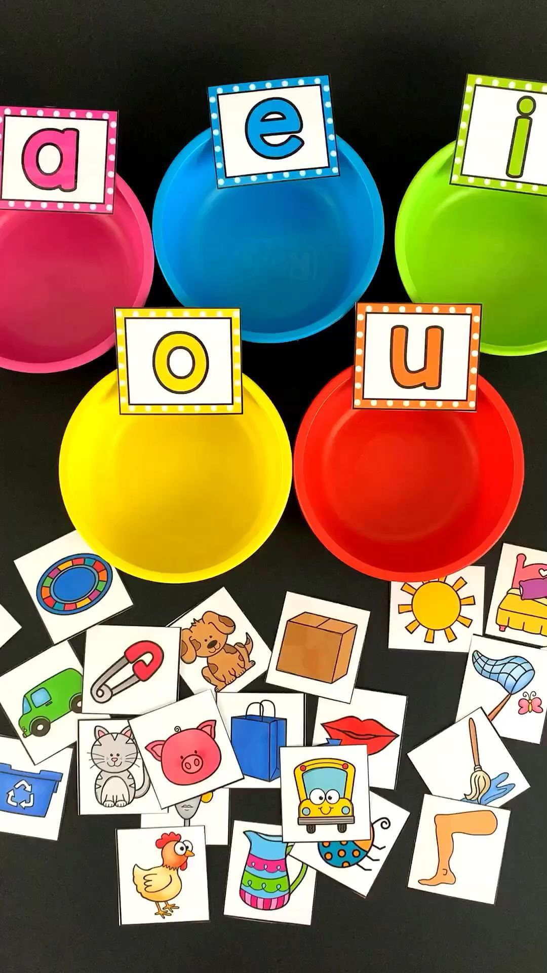 Middle Sound Sorting Cups #learning Your students will love completing these phonics and alphabet literacy centers! There are so many fun and diverse …
