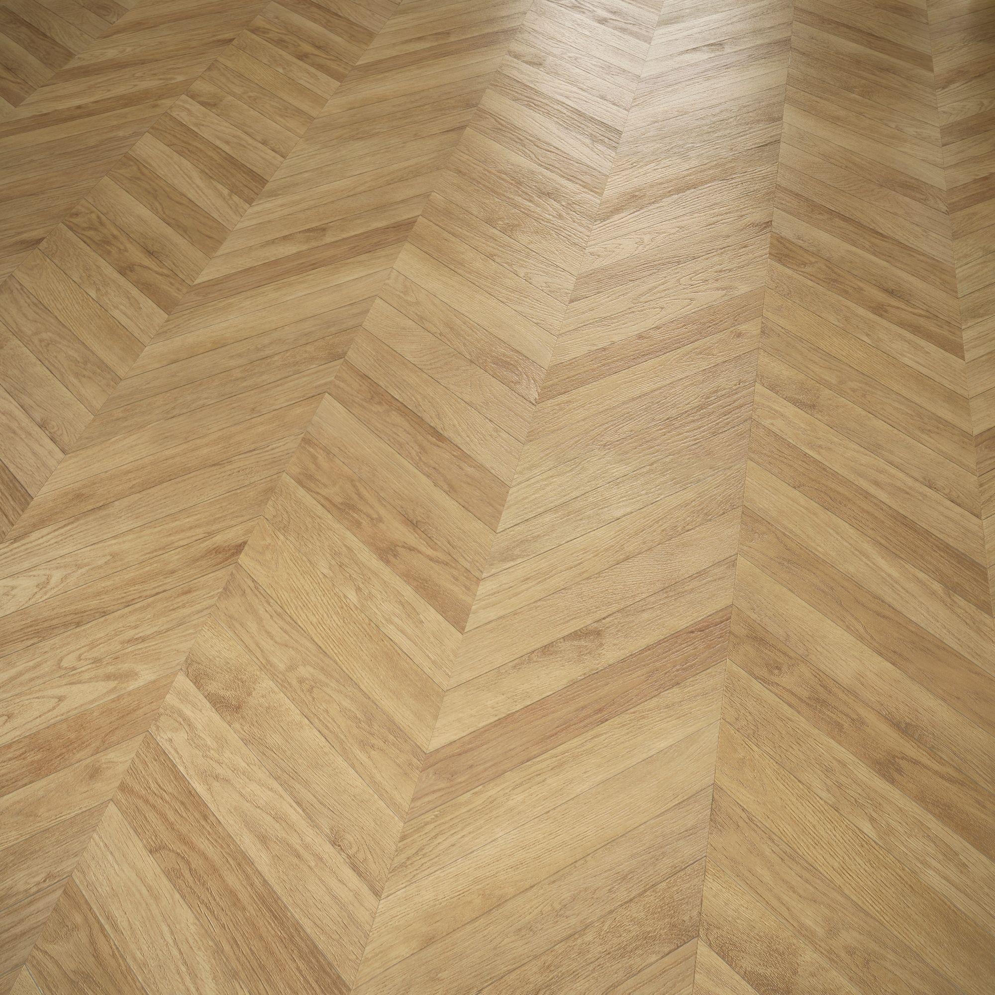 Alessano Herringbone oak effect Laminate flooring 1.39 m ...