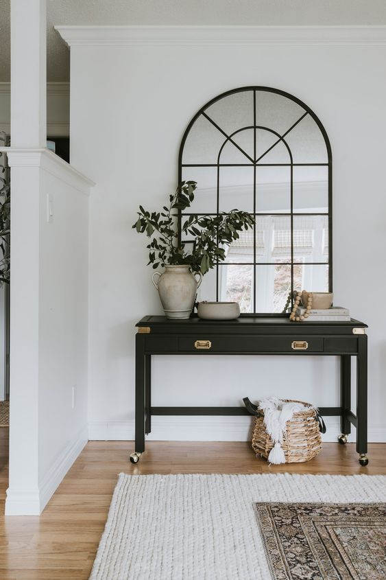 Traditional Black Sofa Table Transformation