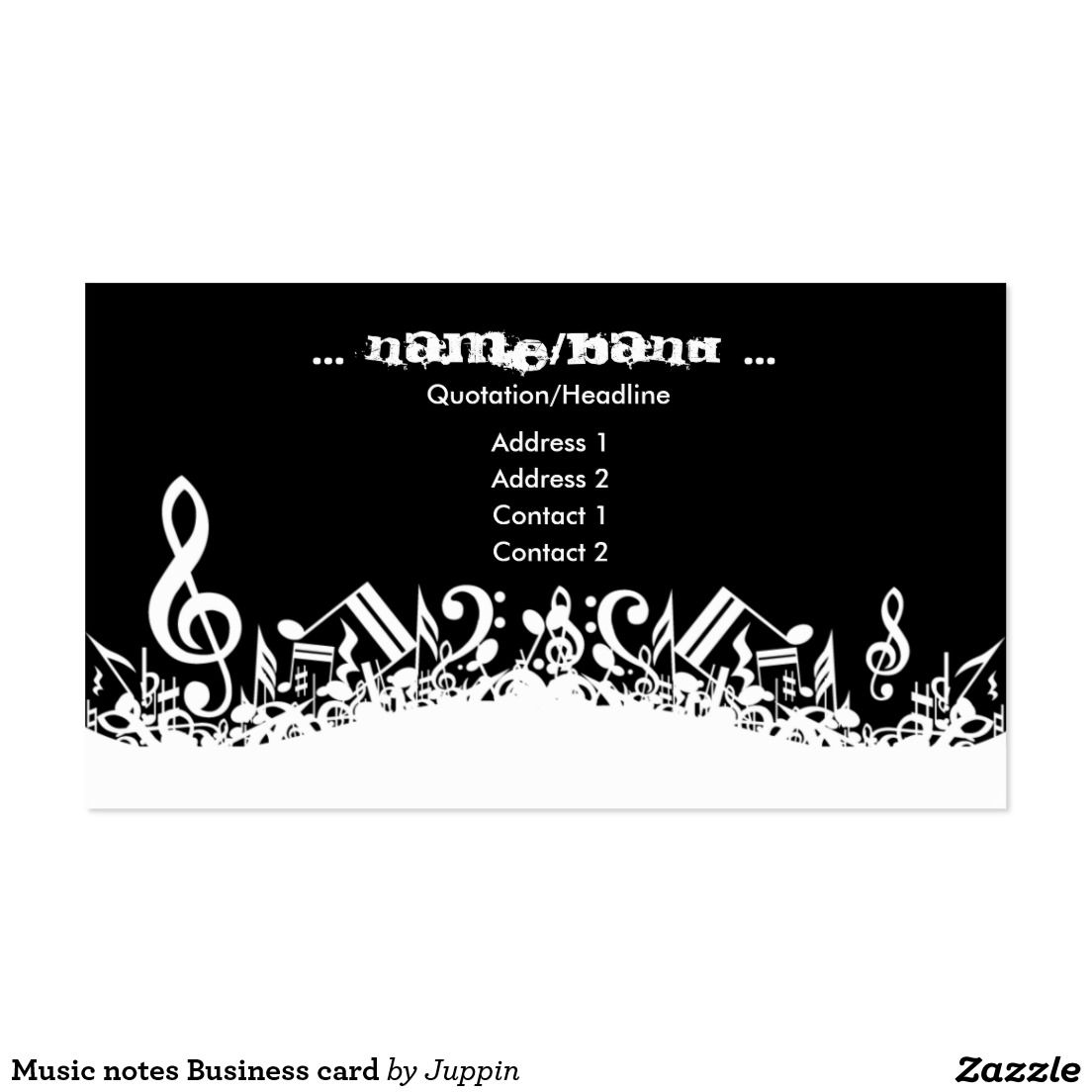 Music Notes Business Card Zazzle Cards