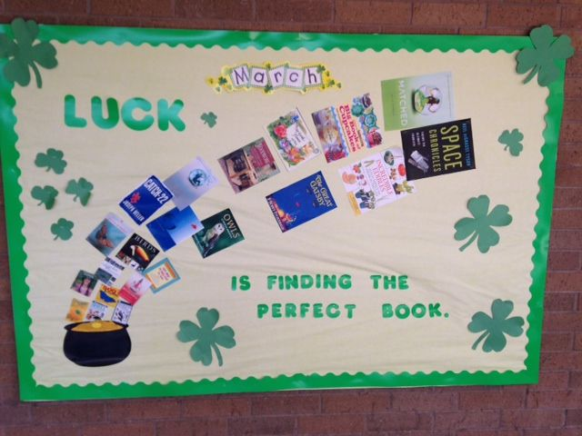March St Patrick S Day Library Bulletin Board Library Bulletin