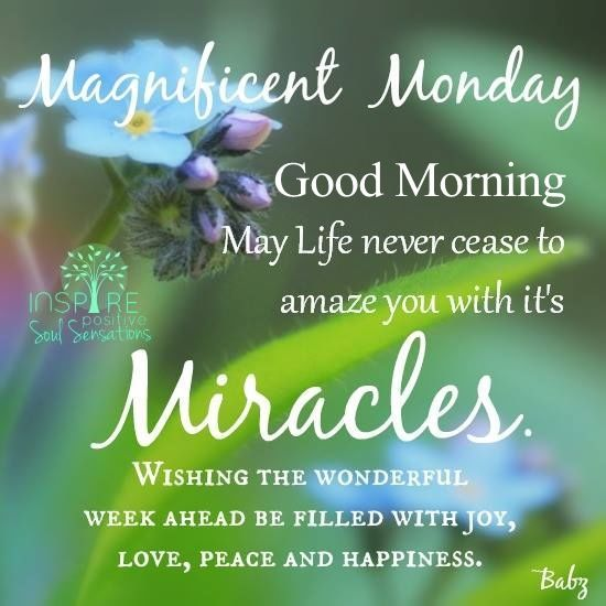 Magnificent Monday Good Morning Morning Quotes Monday
