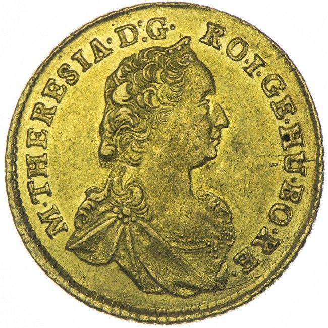 Dukat 1758 Karlsburg RDR Haus Österreich Maria Theresia 1740 - 1780