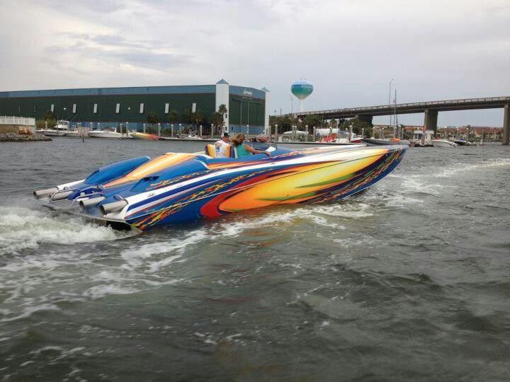 Destin florida pokerun 2012 power boats deck boat