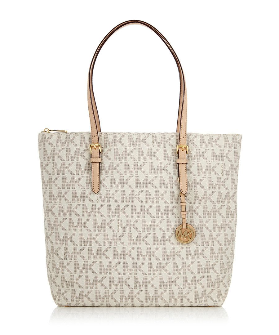 Ivory leather perforated MK tote bag by Michael Kors on secretsales ... e8820d27d7917