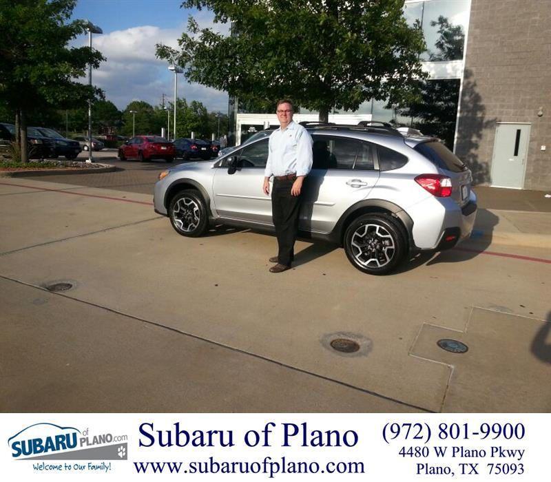 Congratulations Carl On Your Subaru Crosstrek From Lou Colvin At Subaru Of Plano Subaru Plano Customer Review