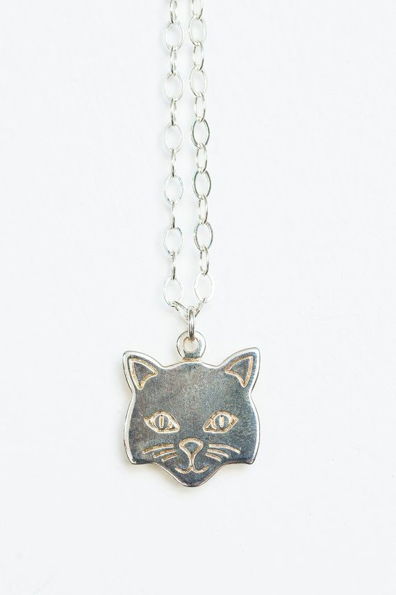 Cat necklace silver cat necklace cat jewelry cat charm all things cat necklace silver cat necklace cat jewelry cat charm mozeypictures Image collections