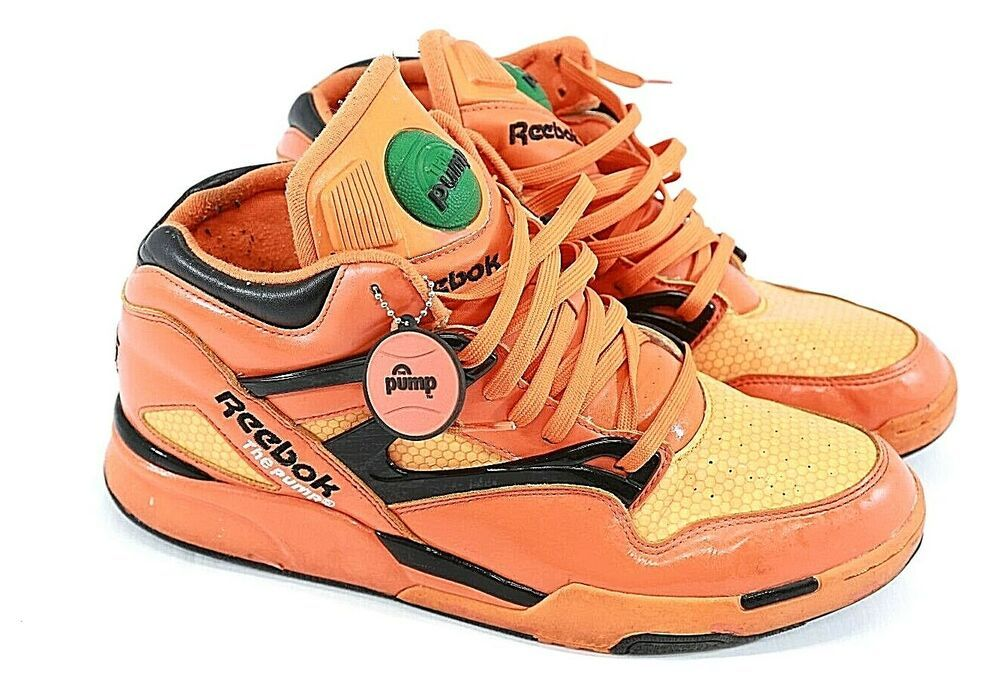 Reebok Men's Pump Hexalite Glow Orange Basketball Shoes With