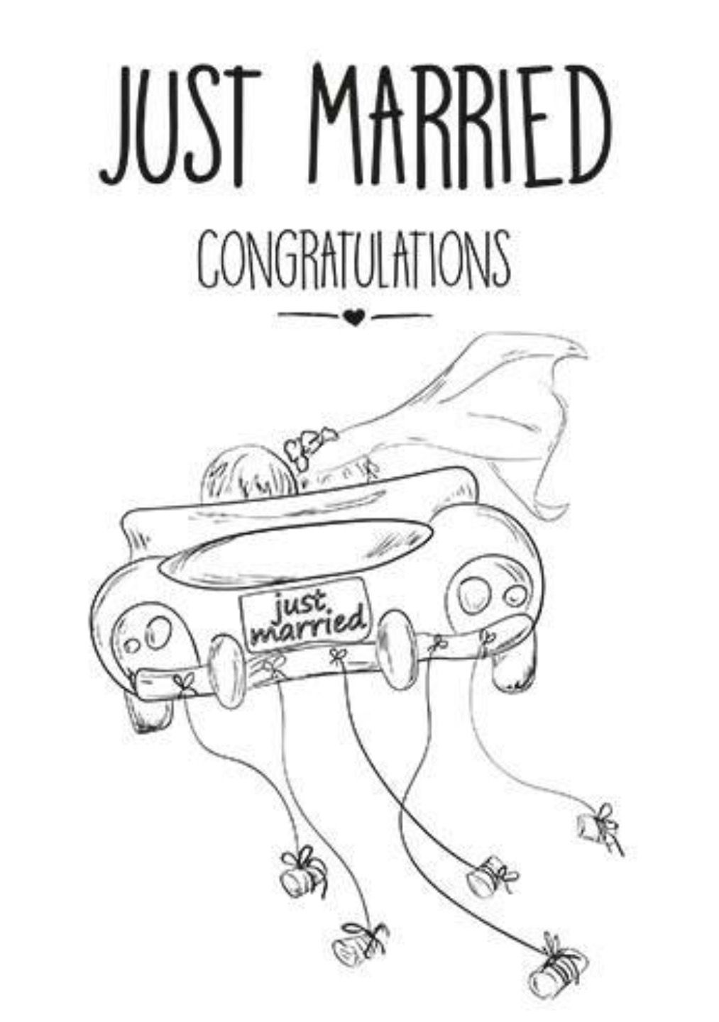 Just married Pergamano Dessin Broderie